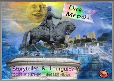 Lisbon Private Walking Tours, business card,  Dick Metzeka